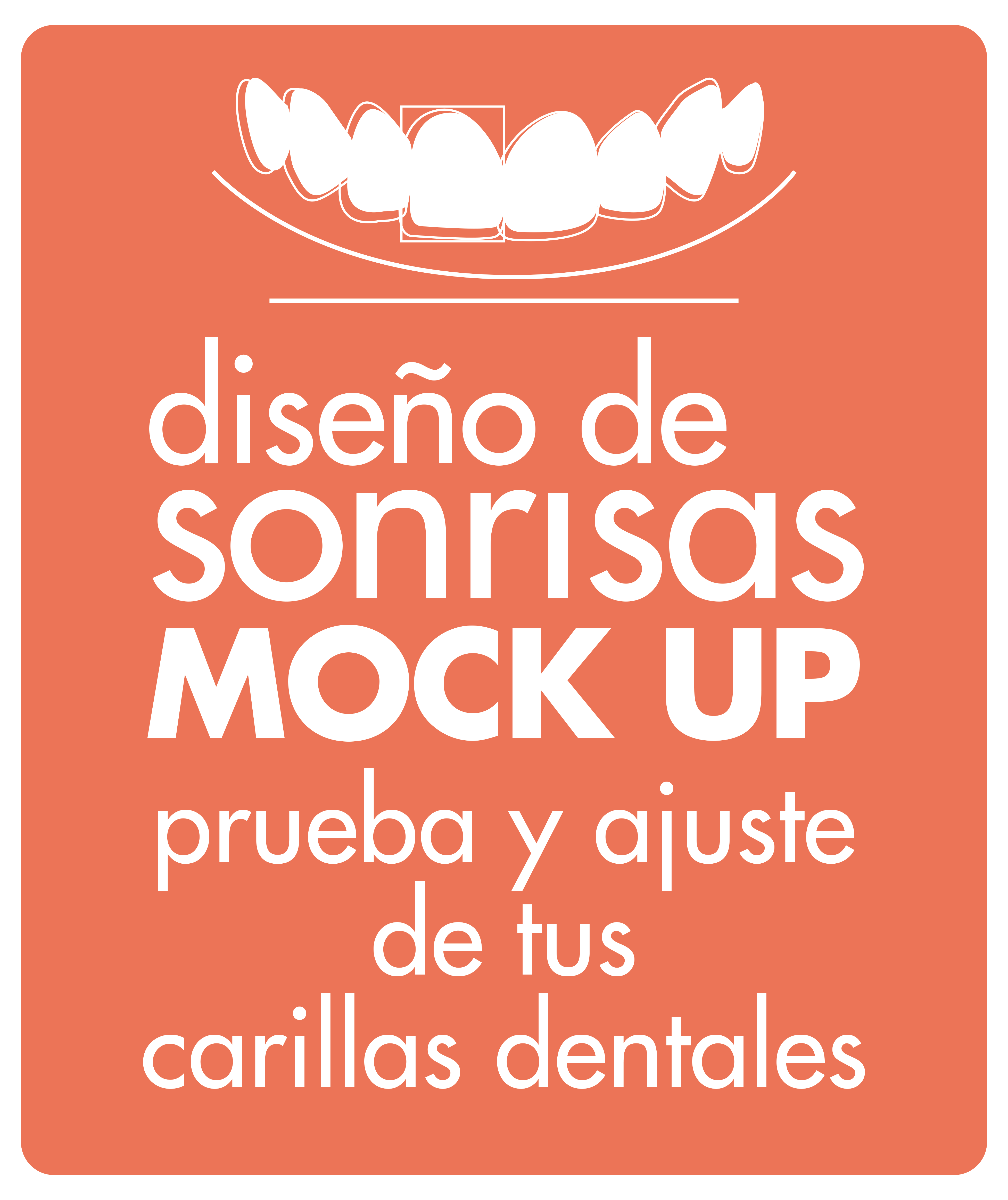 diseño de sonrisas mock up